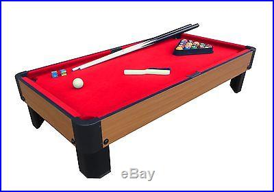 Playcraft Sport Bank Shot 3'4 Pool Table with Cloth Red