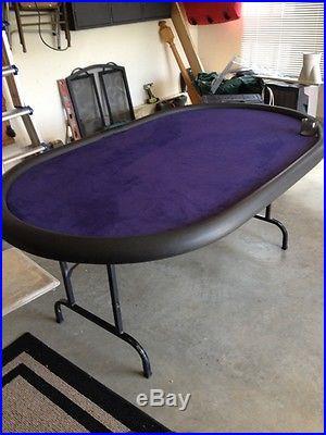 Poker Table, Purple Felt