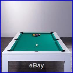 Pool Billardtisch Modell Olivia weiß 7 ft