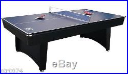 Pool Ping Pong Table Top Tennis Combo 6 Billiard Stick Cue Paddle Net FL Racket