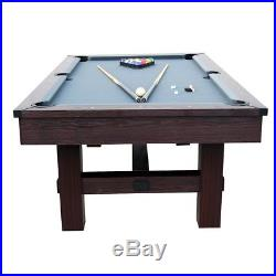 Pool Table 7.5 Feet Game Room Billiard Table Tennis Top All Accessories Included