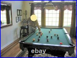 Pool Table 8 Ft Beautiful WoodBalls4 Cue Sticks2 Racks Seldom Used Exc