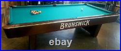 Pool Table 9' Brunswick Billiards Medalist Gully The Game Room Store Nj 07728