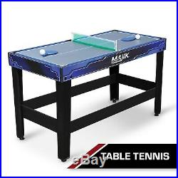 Pool Table Billiard Hockey Tennis 54-Inch 4-in-1 Multi-Game Accessories Included