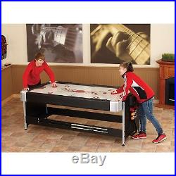 Pool Table Billiards 2-in-1 Glide Air Hockey Home Mancave Game Complete Set