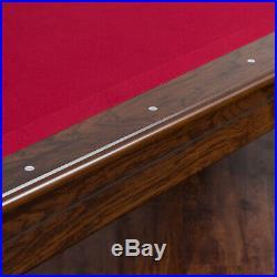 Pool Table Billiards 7.25 Foot Felt Balls Game Cue Room Dorm EastPoint Red Cloth