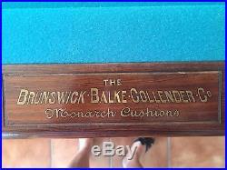Pool Table Brunswick Balke Collender 1898 Antique