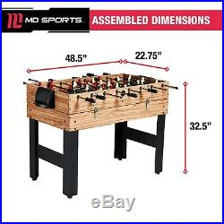 Pool Table Combo Billiards Hockey Foosball Sturdy Game Kids Family Accessories
