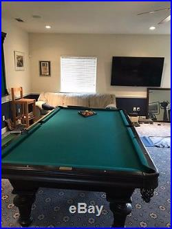 Pool Table Competition size, Olhausen, Green Felt, 6 legs, Excellent condition