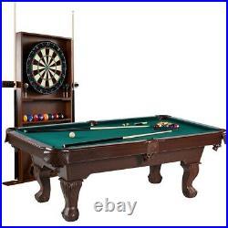 Pool Table Dartboard Set Cue Rack Dart Board Billiard Game Room Play Accessories