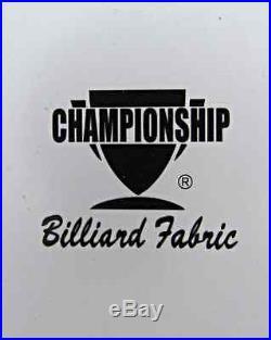 Pool Table Felt, Brite Orange Teflon, 8 Ft, Championship Invitational, Free Ship