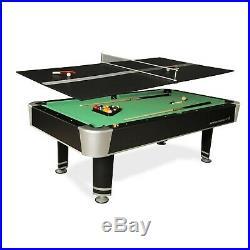 Pool Table Game Room 7.5 Feet Billiard Table Tennis Top Ping Pong Complete Set