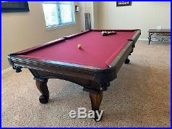 Pool Table Olhausen 8' X 4' regulation size table with 1 thick slate