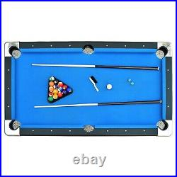 Pool Table Portable 6 Foot Folding Billiard Game with Accessories Game Room