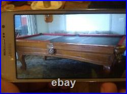 Pool Table Solid Oak Regulation Size complete with all accesories