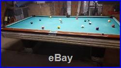 Pool Table, art deco design, Brunswick Centennial 4-1/2x9