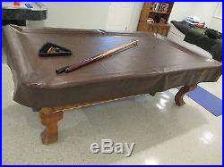 Pool Table newly recovered/cover/2 cues/balls