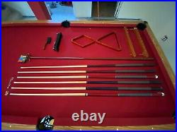 Pool Table with lamp cues ball brush
