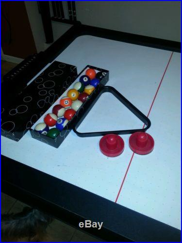Pool and air hockey table