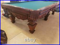 Pool table 9 foot pro size new 20k Hand Carved Lions Heads! RARE 6 LEGS EXTRAS