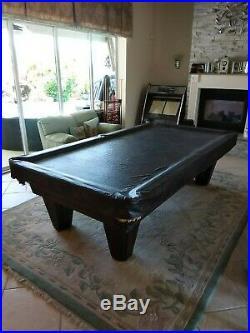 Pool table 9' x 4.5' Brunswick Heritage Championship Pool Table 1 7/8 slate top