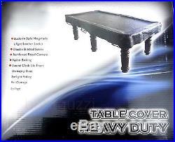 Pool table cover Heavy duty vinyl 7ft Black (Snooker Billiard)
