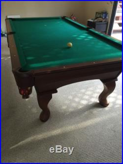 Pool table olhausen wood 8 inch