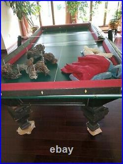Pool table regulation size 9 ft antique