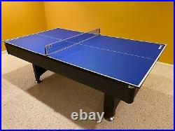 Pool table with tennis table top for sale