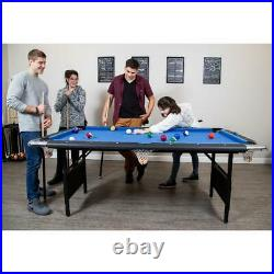 Portable Pool Table Fold Storage Bag Billiard Accessories Game Room Play Set 6ft