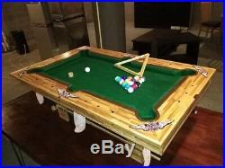 Prison art craftstick miniature pool table. Rec Room, Kids-play handmade