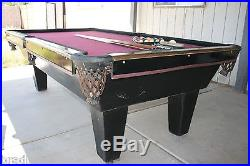 Pro Slate Billiards Table 4'6 x 8' Connelly Red w Pool Balls + Sticks 8 Foot