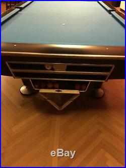 Professional 9 Foot Brunswick Gold Crown IV Pool Table