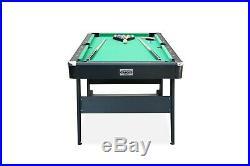 RACK Drogon 5.5-Foot Folding Billiard/Pool Table (Black)