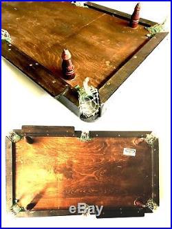 RARE ANTIQUE THURSTON & CO MINIATURE SNOOKER BILLIARD TABLE c1910