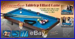 RMK Executive Tabletop Billiard Miniature Pool Table Indoor Game Blue Color NIB