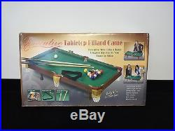 RMK Executive Tabletop Billiard Miniature Pool Table Indoor Game Green Color NIB