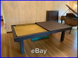 RUSTIC CONVERTIBLE POOL TABLE Billiard/Dining/Desk Vision 8' FREE SHIPPING