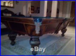Rare 1874 Brunswick Nonpariel Antique Pool Table