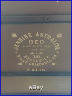 Rare! ANTIQUE 1915 BRUNSWICK BALKE COLLENDER CO. Astralite POOL TABLE Set
