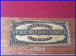 Rare Brunswick-Balke-Collender 1896 Pfister 9' Pool Table