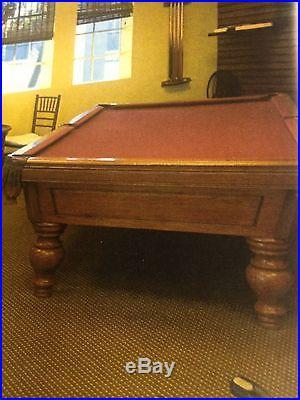 Rare Custom Slated Pool Table