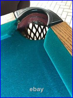 Rare Vintage Billiard and Pool Table The Delaware by Brunswick