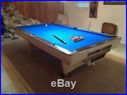 Rare Vintage Brunswick Gol Crown I Regulation Size Pool Table