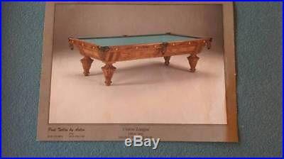 Reproduction 1850 Adler Union League Pool Table