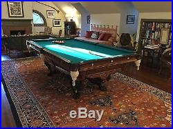 Restored 1890's 9' Brunswick Monarch Antique Pool Table BBC's masterwork