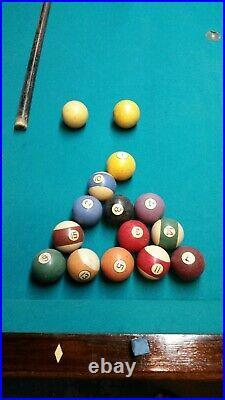Restored 1890's Narragansett Pool Table