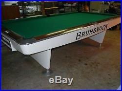 Restored 9' Brunswick Gold Crown II pool table