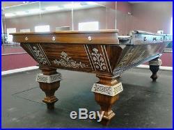 Restored Antique Brunswick Pool Table