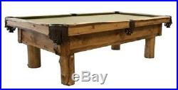 Rustic Log 8' Pool Table FREE Shipping